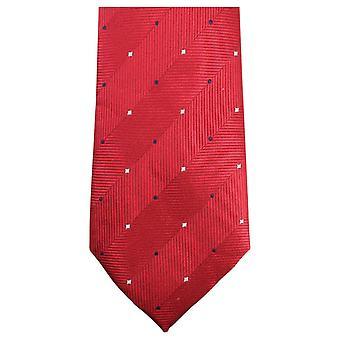 Knightsbridge Neckwear Double Pattern Tie - Red