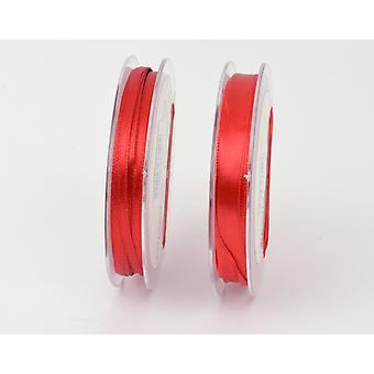 3mm Christmas Red Polyester Satin Craft Ribbon - 10m | Ribbons & Bows for Crafts