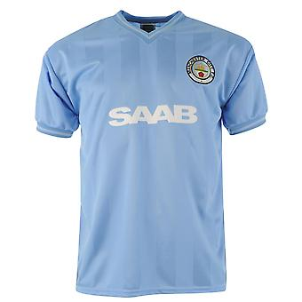 Score Draw Mens Manchester City Football Club 1984 Home Jersey Retro Shirt Short