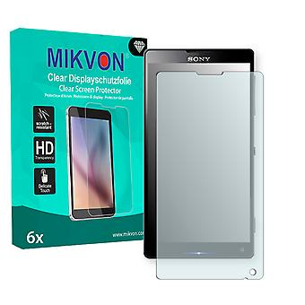 Sony Xperia C6502 Screen Protector - Mikvon Clear (Retail Package with accessories)