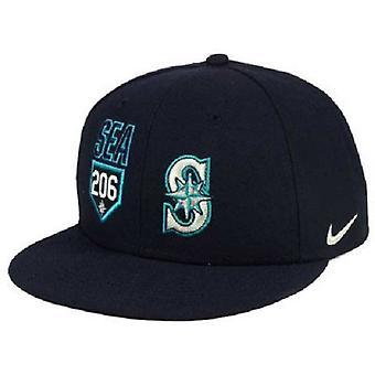 Seattle Mariners MLB Nike True områdenummer Flat Bill Snapback Hat