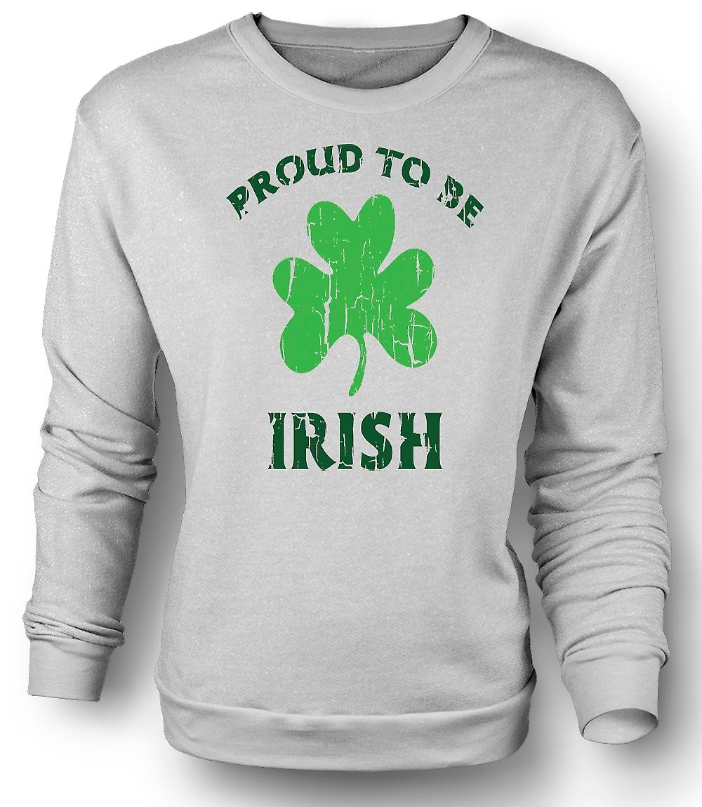 Mens Sweatshirt St Patricks Day - Proud To Be Irish