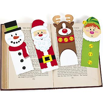 24 Christmas Character Printed Card Bookmarks for Party Bags
