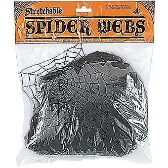 Stretchable Black Web. Webs And Cloth.