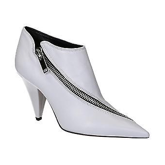 Céline Grey Leather Ankle Boots