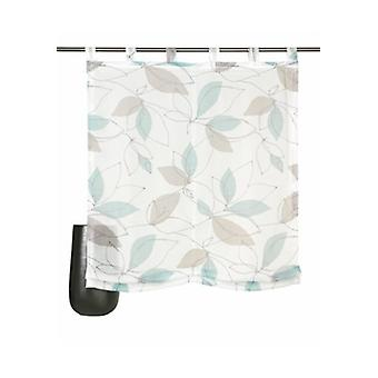 decode trends curtain transparent Roman shade with colored leaf motif