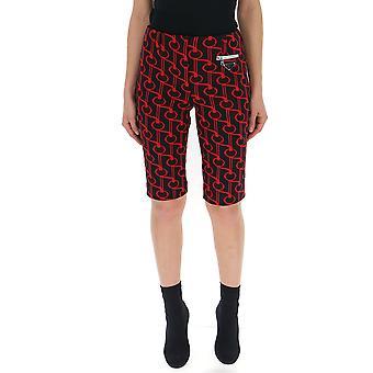 Prada schwarz/rot Seide Shorts