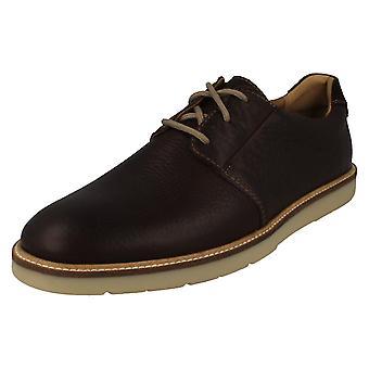 Mens Clarks formella spets upp skor Grandin Plain