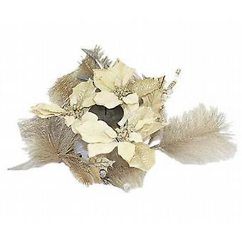 Gouden Glitter blad & Berry tabel centrum pijler serviesje 29 X 29 cm X 14 cm