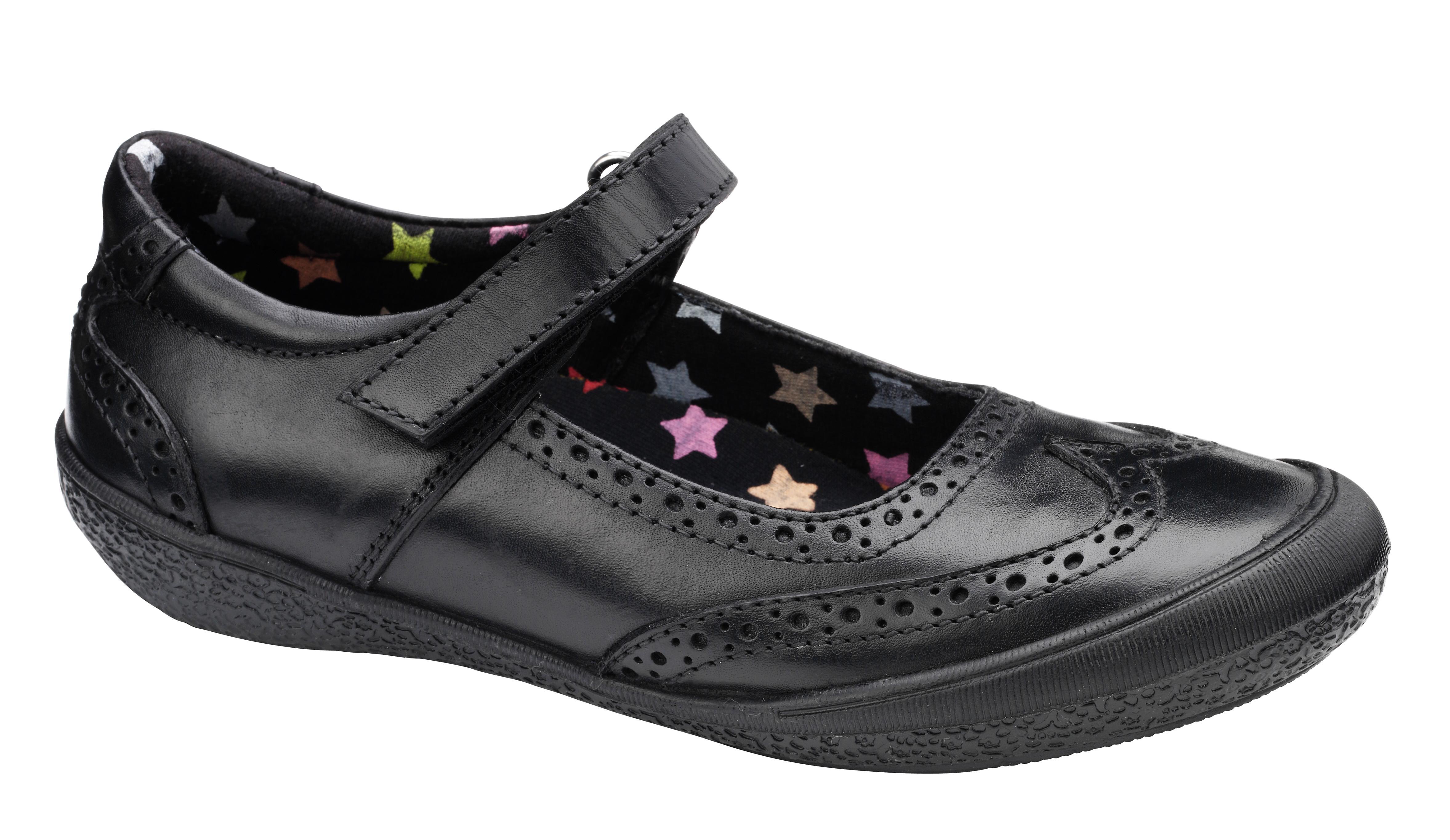 Hush Puppies Girls Amerany School chaussures noir F Fitting