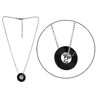Vinyl Record Enamel Pendant Necklace