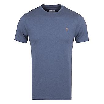 Farah Denny Dark Denim Marl Slim Fit T-Shirt