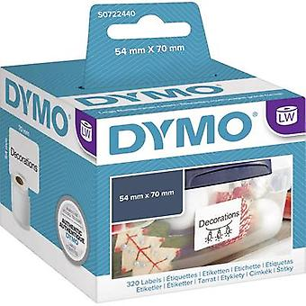 DYMO S0722440 Label roll 70 x 54 mm Paper White 320 pc(s) Permanent All-purpose labels