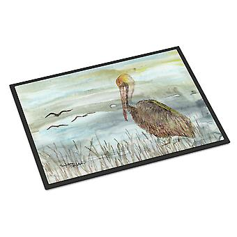 Brown Pelican Watercolor Indoor or Outdoor Mat 18x27
