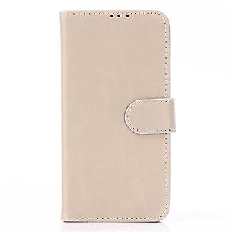 Samsung Galaxy A10 Retro Wallet Case-Beige