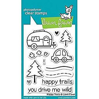 Lawn Fawn Happy Trails Clear Stamps (LF601)