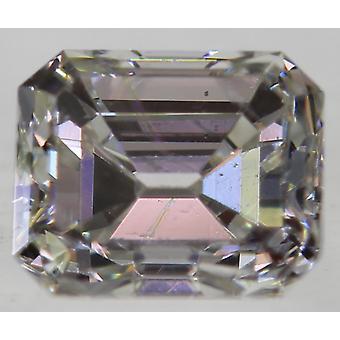 Zertifiziert 0.33 Karat F VVS2 Smaragd Enhanced Natural Loose Diamond 3.64X4.3m 2VG