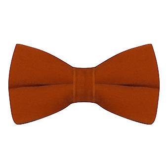 Luxury Amber Brown / Burnt Orange Velvet Bow Tie
