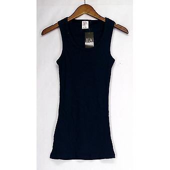 Pictogram kleding top mouwloos w/geribbeld detail & Scoop nek blauw Womens