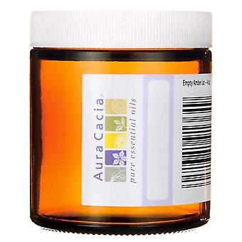 Aura cacia empty amber glass jar, 4 oz, 1 ea