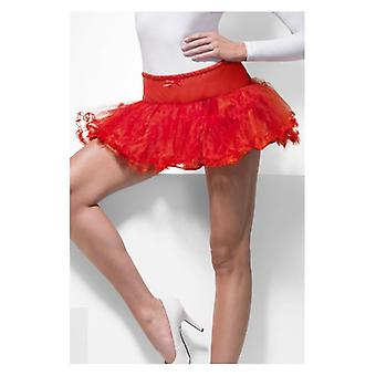 Womens Petticoat Rot Fancy Dress Zubehör