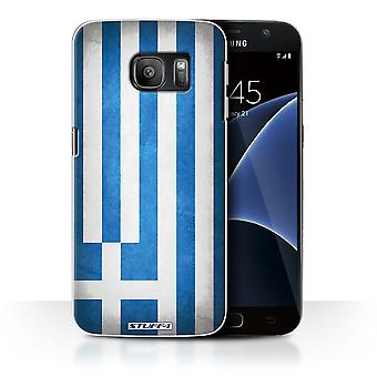 STUFF4 Case/Cover for Samsung Galaxy S7/G930/Greece/Greek/Flags