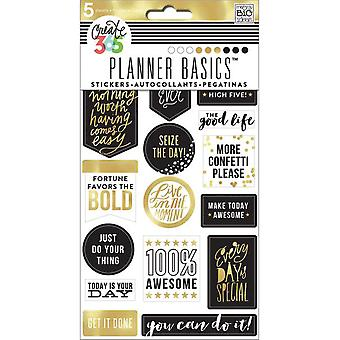 Create 365 Planner Stickers 5 Sheets/Pkg-Gold - Seize The Day PPS5-76