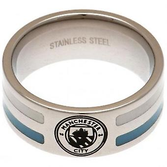 Manchester City colore Stripe anello Medium