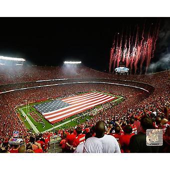 Pijlpunt stadion 2014 foto afdrukken