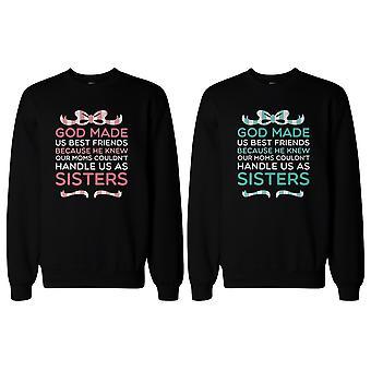 Gud gjorde os bedste venner BFF matchende Sweatshirts for bedste venner