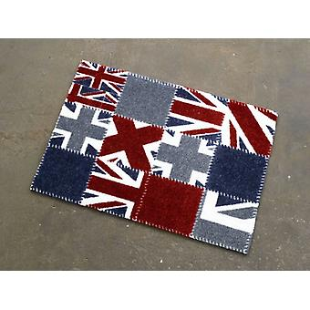 Doormat dirt trapping pad Union Jack patchwork blue red white 50 x 70 cm. 101925