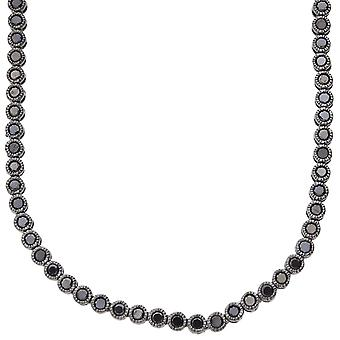 Iced out bling DISCREETLY ELEGANT cubic zirconia necklace - black