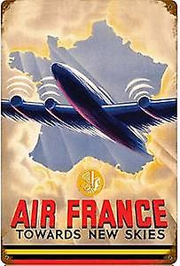 Air France large rusted steel sign   460mm x 300mm   (pst 1812)