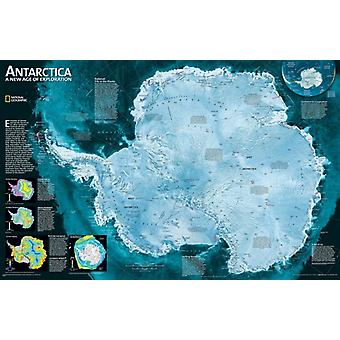 Antarctica Satellite laminated : Wall Maps Continents: PP.NGC620091 (Nonfiction Reading and Writing Workshops) (Map) by National Geographic Maps