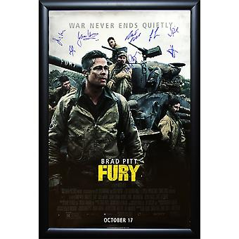 Fury - Signed Movie Poster