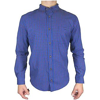 Red Herring lange mouwen blauw/rood Mini Check Shirt TP492-Small