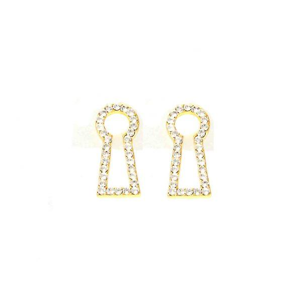 W.A.T Crystal Through The Keyhole Shaped Fashion EarringsEarrings