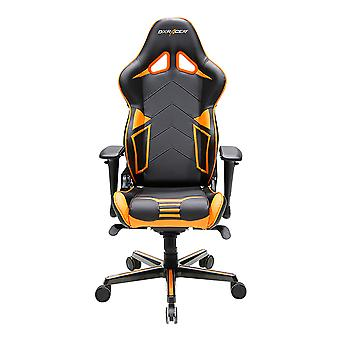 DX Racer DXRacer OH/RV131/NO High-Back Gaming Chair Carbon Look Vinyl+PU(Black/Orange)