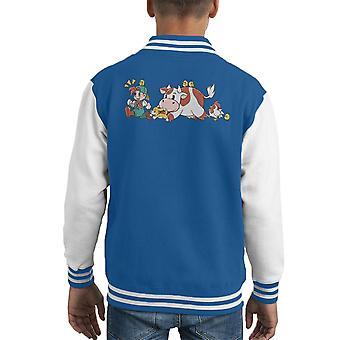 Harvest Moon Landwirtschaft ist Spaß Kid Varsity Jacket