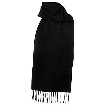 Dents Plain Lambswool Scarf - Black