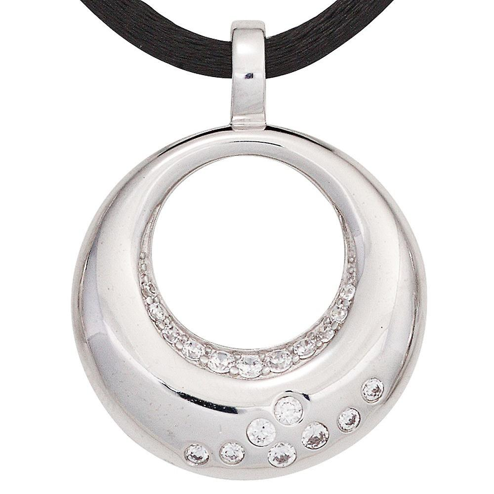 rhodium-plated sterling silver pendant pendant 925 sterling silver with cubic zirconia