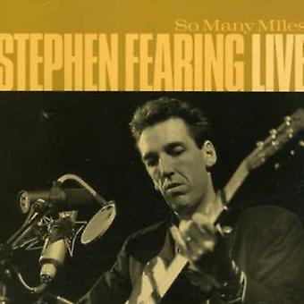Stephen Fearing - så mange Miles: Live [CD] USA import