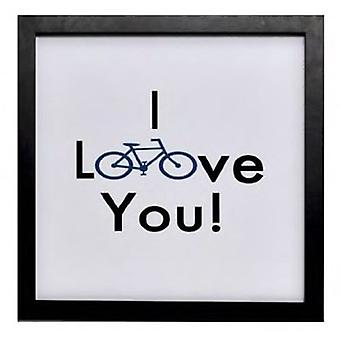 Wellindal Box printed with message  I love you  white 34x34x1,9 cm
