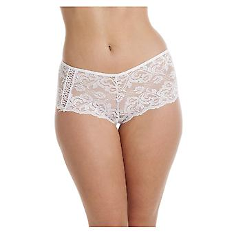Camille Ladies White Lace Lingerie Boxer Shorts
