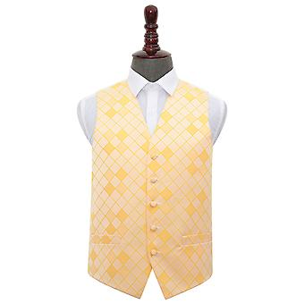 Sunflower Gold Diamond Wedding Waistcoat