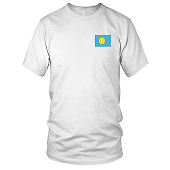 Palau Country National Flag - Embroidered Logo - 100% Cotton T-Shirt Mens T Shirt