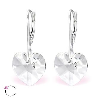 Heart crystal from Swarovski® - 925 Sterling Silver + Crystal Earrings