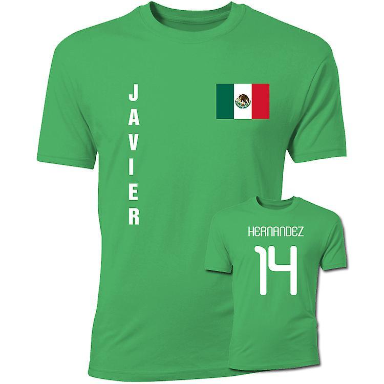 Javier Hernandez Mexiko-Flaggen-T-Shirt (Grün)