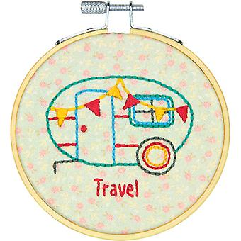 Short N' Sweet Camper Mini Embroidery Kit-4