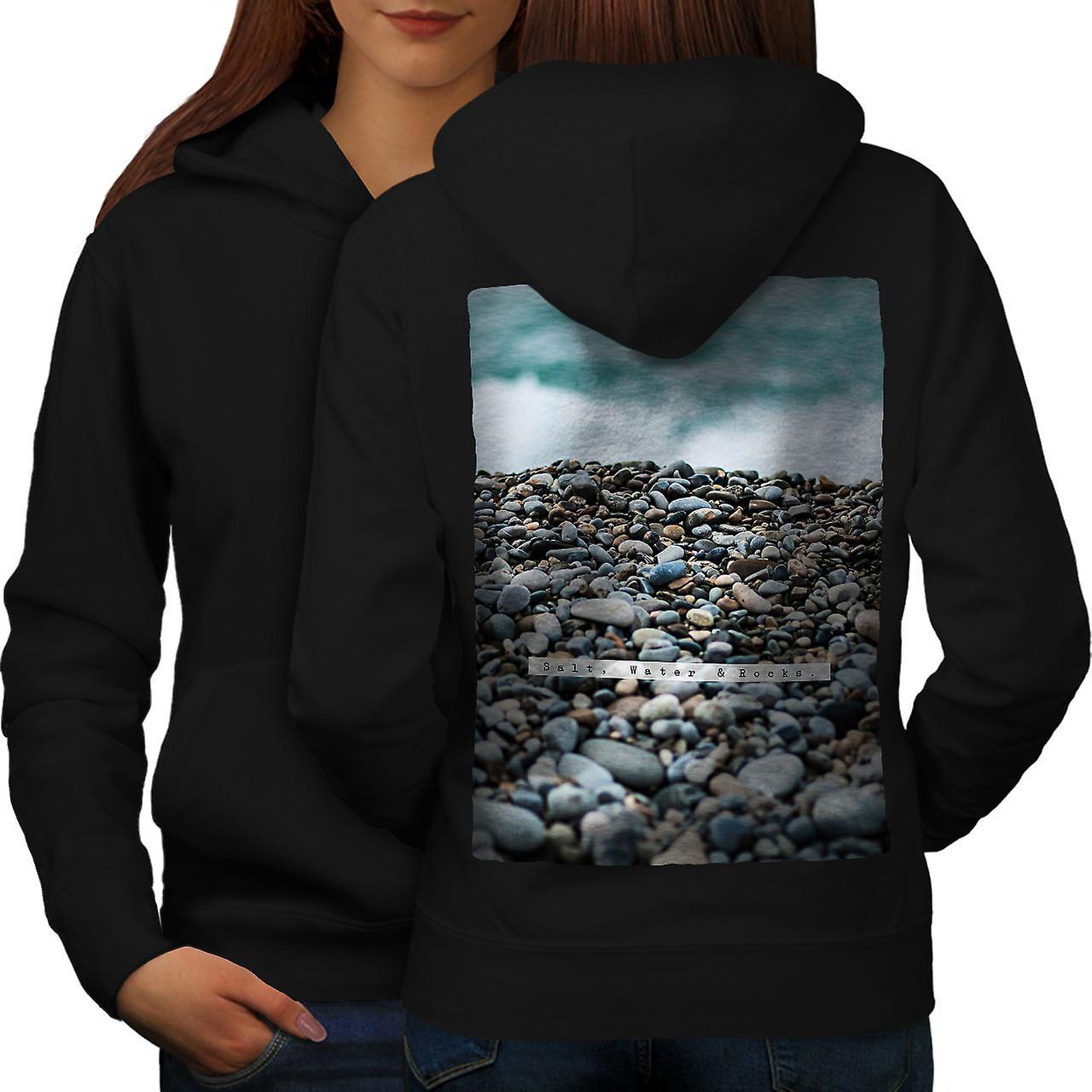 L'eau Rock mer Nature femmes noirHoodie dos